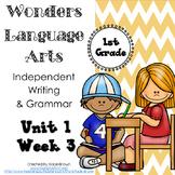 Wonders Writing and Grammar 1st Grade Unit 1 Week 3 FREE