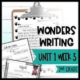 Wonders Writing and Grammar 2nd Grade Unit 1 Week 3 FREE