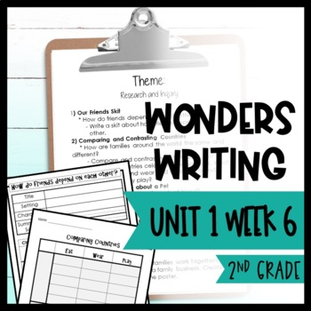 Wonders Writing and Grammar: 2nd Grade Unit 1 Week 6