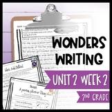 Wonders Writing and Grammar 2nd Grade Unit 2 Week 2