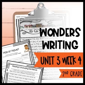Wonders Writing and Grammar 2nd Grade Unit 3 Week 4