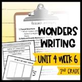 Wonders Writing and Grammar 2nd Grade Unit 4 Week 6