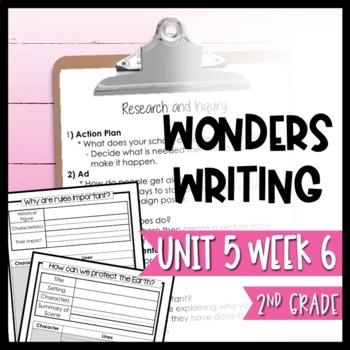 Wonders Writing and Grammar: 2nd Grade Unit 5 Week 6