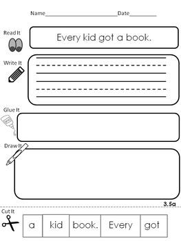 McGraw-Hill Wonders for First Grade Unit 3 Read It, Write It, Glue It