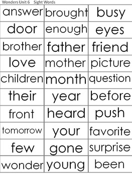 McGraw-Hill Wonders First Grade Roll, Say, Keep Sight Word Game