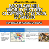 McGraw Hill World History Chapters 17-18, 20-25, 27, and 30