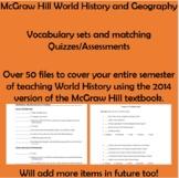 McGraw Hill World History vocabulary and quiz set