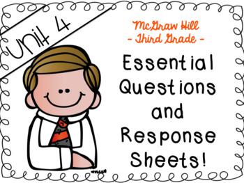 Wonders grade 3 Unit 4 essential questions