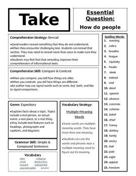 McGraw Hill's WONDERS Grade 4 PDF for Units 1-6