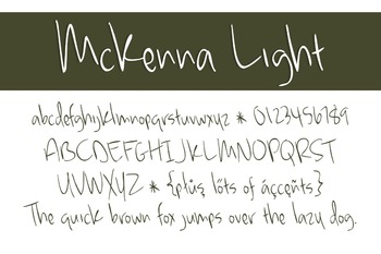 McKenna Light Font for Commercial Use