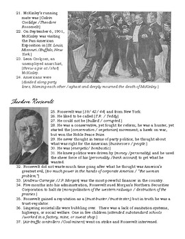 McKinley, T.Roosevelt & Taft Video Guide - History Channel - The Presidents
