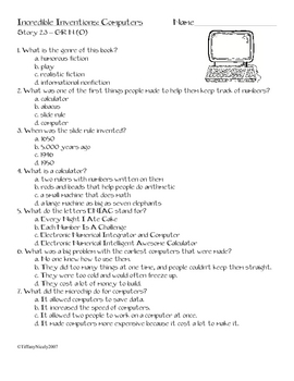 McMillan/McGraw-Hill® Treasures 3.2.3, leveled reader questions