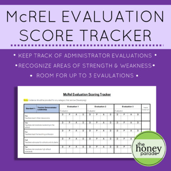 McRel Evaluation Score Tracker