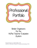 McRel Teacher Evalution Portfolio Binder Organizers