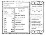 Mcgraw-Hill Reading Wonders First Grade Weekly Homework (Unit 1)