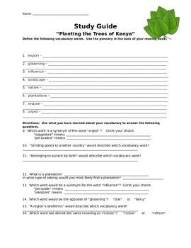 "Mcgraw Hill Reading Wonders ""Planting the Trees of Kenya"""