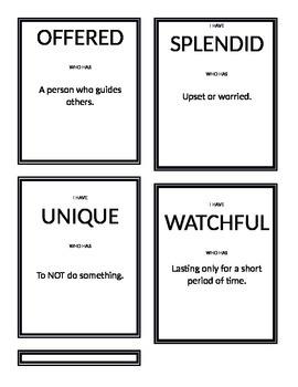Mcgraw Hill Wonders 3rd Grade - Unit 3 Vocabulary Game
