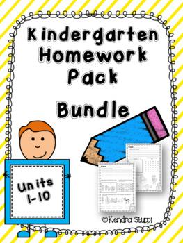 Mcgraw Hill Wonders Kindergarten Homework Bundle Units 1-10