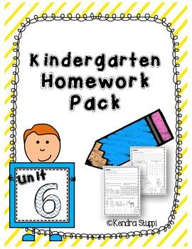 Mcgraw Hill Wonders Kindergarten Homework Unit 6