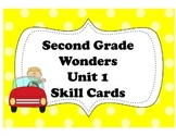 McGraw-Hill Wonders Storyboard Skills Cards Unit 1 Common Core 2nd Grade