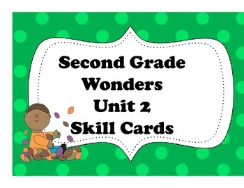 McGraw-Hill Wonders Focus Wall Skill Cards Unit 2 2nd Grade Common Core