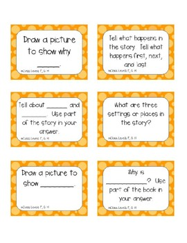 Mclass Question Stem Cards by levels