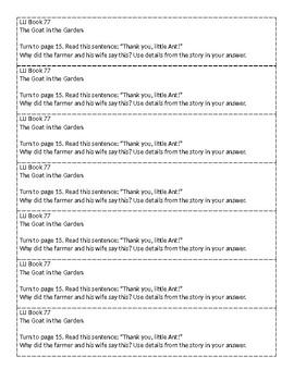 Mclass-Style Questions for LLI Books (Books 71 - 79)