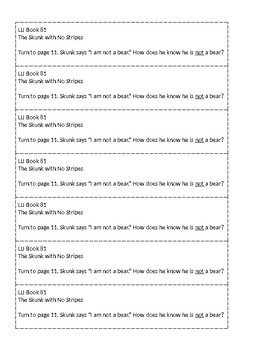 Mclass-Style Questions for LLI Books (Books 81 - 89)