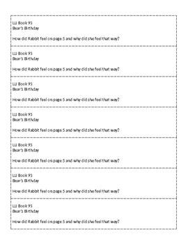Mclass-Style Questions for LLI Books (Books 91 - 99)