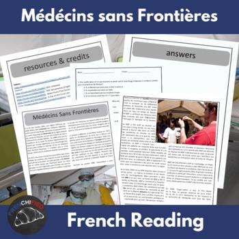Médécins Sans Frontières - an intermediate/advanced French reading activity
