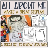 All About Me Poster and Worksheets