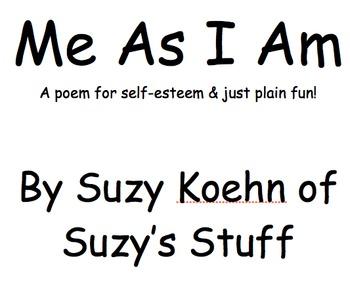 Me As I Am- a poem about self-esteem