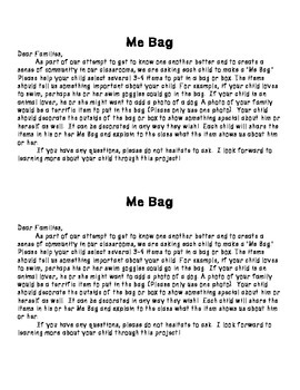 Me Bag: A Getting to Know You Activity