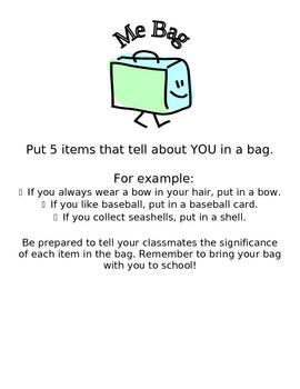 Me Bag - Back to School Activity