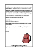 Me Bag Family Letter and Recording Sheet
