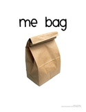 Me Bag Introduction to the School Year
