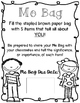 Me Bag- a Getting to Know You Back to School Project (FREEBIE)