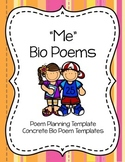 """Me"" Bio Poem Pack: Planning Template and Body Concrete Bio Poem Templates"