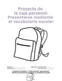 Project Sp1 - Me Box: Build Spanish Sentences via Educational Artifacts