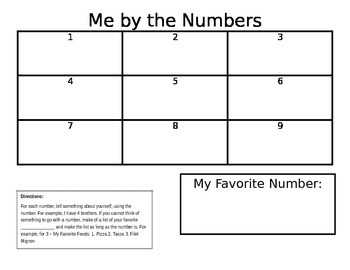 Me By The Numbers