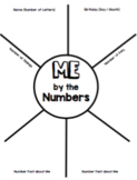 """""""Me By the Numbers"""" Getting to Know You Activity"""