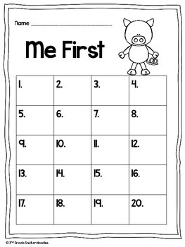 Me First by Helen Lester: A Comprehension Scoot