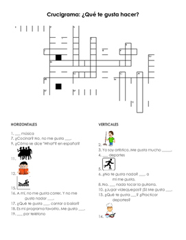 Me Gusta Crossword
