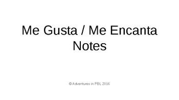 Me Gusta Me Encanta Notes Slides