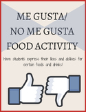 Me Gusta / No Me Gusta Activity & Worksheet
