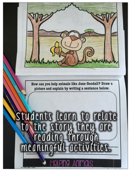 A Jane Goodall Guided Reading Flipbook