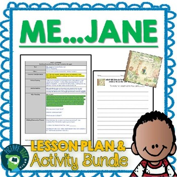 Me...Jane by Patrick McDonnell 4-5 Day Plan