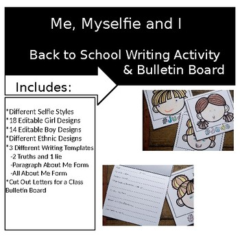 Me Myselfie and I Get to Know you Activity and Bulletin Board