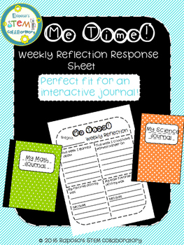 Me Time - Weekly Reflection Journal Response Sheet