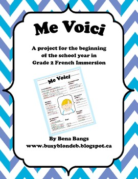 {Me Voici!} A Back-to-School Project for Grade 2 French Immersion or Core French